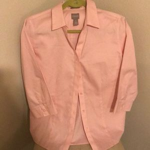 Chico's pink blouse
